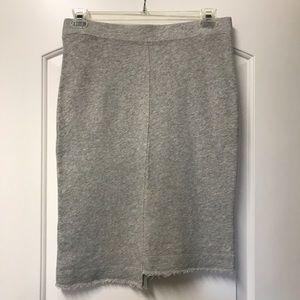 WILT Jersey Raw Hem Shifted Asymmetrical Skirt